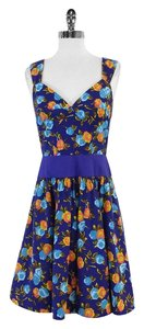 Plenty by Tracy Reese short dress Blue Floral Cotton on Tradesy