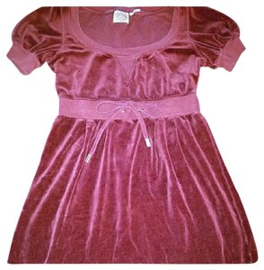 Juicy Couture Swim suit cover/ velour dress juicy couture maroon