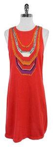 Nanette Lepore short dress Orange Beaded on Tradesy
