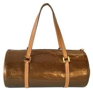 Louis Vuitton Patent Bedford Gold Hardware Tote in Bronze