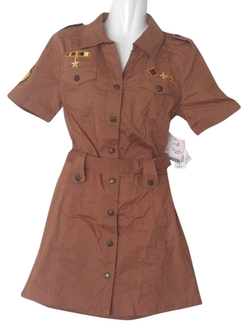 South Pole Collection short dress Brown Crusaders Military Insignia on Tradesy