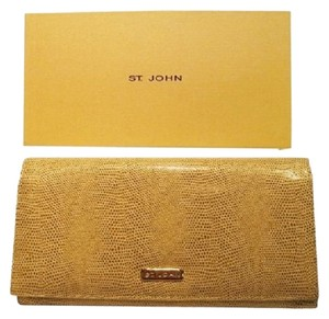 St. John Travel Wallet; ST. JOHN Reptile Embossed Leather - [ Roxanne Anjou Closet ]