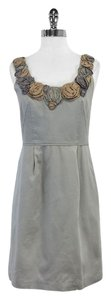 Yoana Baraschi short dress Grey Floral Embellished Neckline on Tradesy