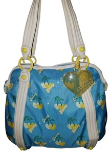 Juicy Couture Nylon Lemon Vintage Tote in blue & yellow