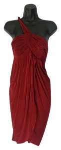 BCBGMAXAZRIA Tulip Drape Grecian Greek Dress