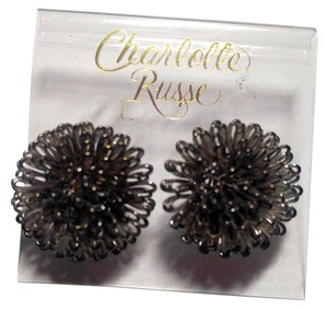 Charlotte Russe Charlotte Russe Funky Large Gunmetal Silver Colored Stud Earrings E403