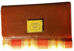 Longaberger Plaid Bilfold Magnetic Closure WALLET-13 Pockets Inside/Back Pocket