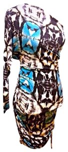 Victoria's Secret One Party Bodycon Print Dress
