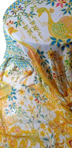 Other New Chiffon Summer Scarf Yellow Blue Long Lightweight Peacock Design P2007