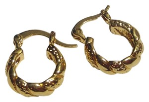 Other New 14K Gold Filled Small Hoop Earrings Chunky J2397