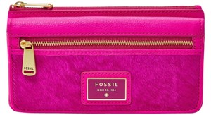 Fossil Haircalf Wallet Pink Leather Pink Haircalf hot pink/leather Clutch
