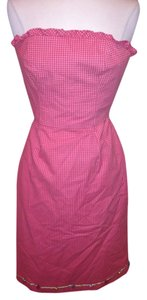 Helen Wang short dress Pink Strapless on Tradesy