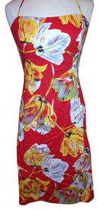 Helen Wang short dress Red Yellow Size 10 on Tradesy