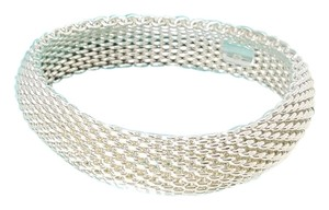 Tiffany & Co. Tiffany Somerset Mesh Bangle Bracelet in Sterling Silver 925