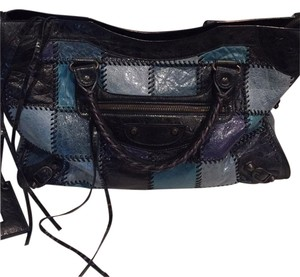 Balenciaga Satchel in Denim Patchwork