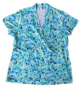 Charter Club Floral Top Blue