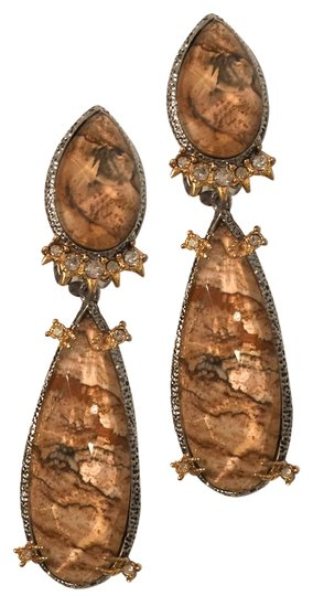 Alexis Bittar Duo Teardrop Crystal Dangle Earrings Image 1