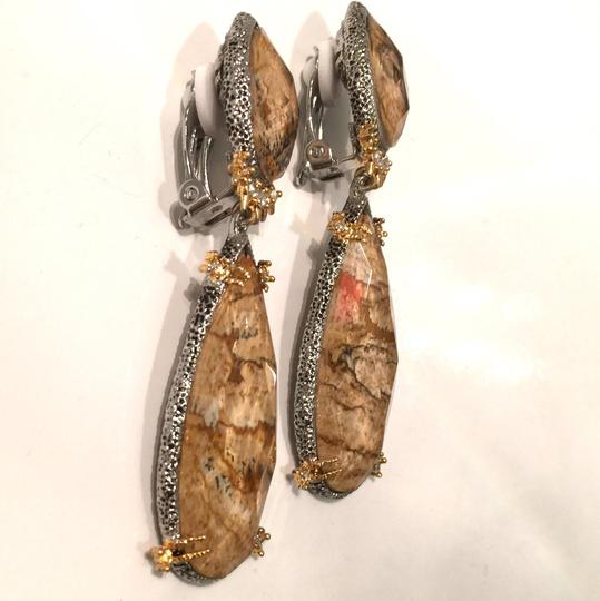 Alexis Bittar Duo Teardrop Crystal Dangle Earrings Image 2
