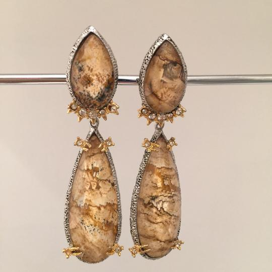 Alexis Bittar Duo Teardrop Crystal Dangle Earrings Image 4