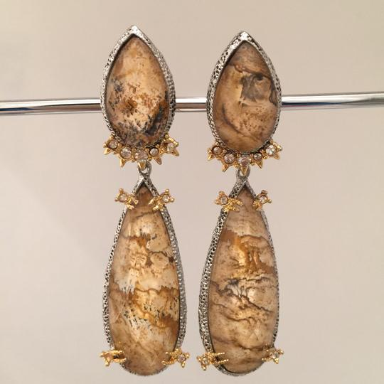 Alexis Bittar Duo Teardrop Crystal Dangle Earrings Image 5
