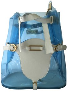 Jimmy Choo Hobo Beach Limited Edition White Tote in Blue White