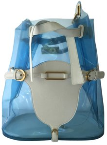 Jimmy Choo Hobo Beach Limited Edition Shoulder Tote in Blue White