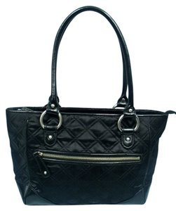 Ann Taylor Quilted Leather Satchel in Black