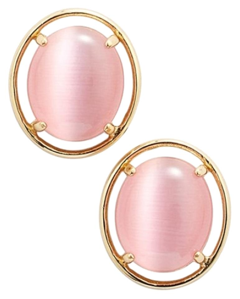 Kate Spade Cat S Eye Open Rim Earrings Nwt Urban Sophisticate Chic With Pink