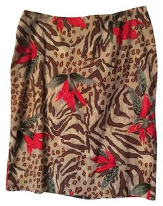 Rene Collection Skirt Leopard multi