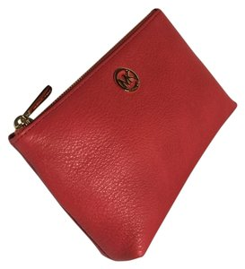 Michael Kors Michael Kors Fulton Travel Leather Cosmetic Case Watermelon Leather