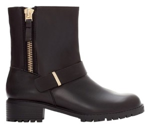 Zara leather motocycle boots 6 Boots