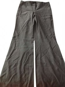 The Limited Wide Leg Pants Gray with stripes