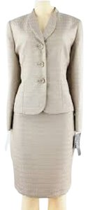 Le Suit LE SUIT NEW Womens Tan Tweed 2PC Long Sleeves Skirt Suit Petites 16P