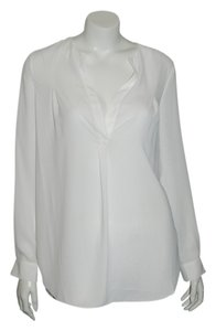 Zoa Anthropologie Sheer Top Ivory
