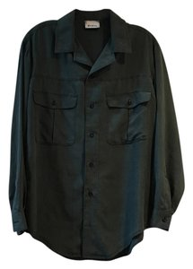 Go Silk Button Down Shirt Washed Sage Green
