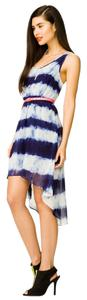 Forever 21 short dress Blue & White 21 Tyedye Pretty Maxi on Tradesy