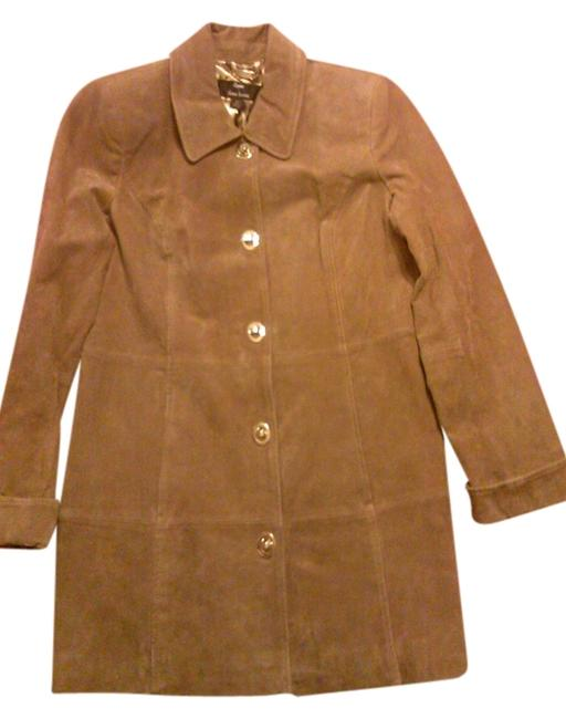 Dennis Basso Chic toffee Leather Jacket