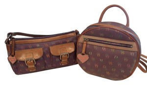 Dooney & Bourke Backpack Purple Multi Set Baguette