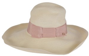 Gucci NEW Gucci Women's Natural 309138 $435 Wide Brim Floppy Interlocking GG Hat SMALL