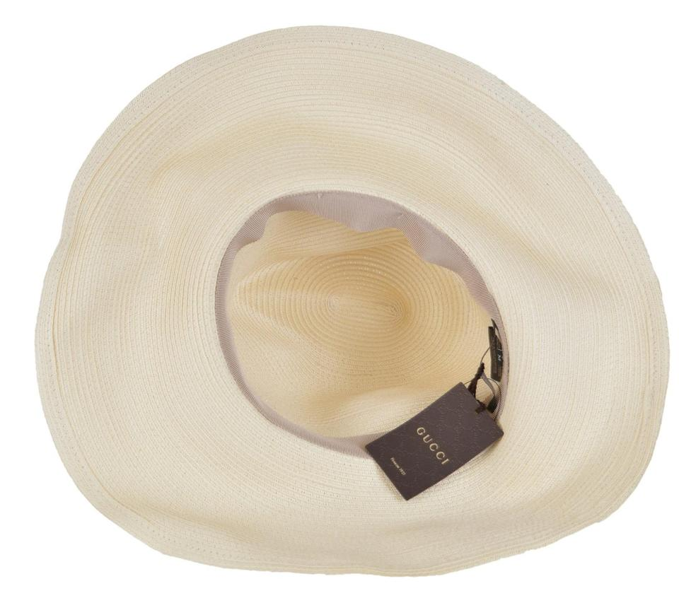 93e4e40e94a Gucci NEW Gucci Women s 309138  435 Wide Brim Floppy Interlocking Hat Small.  12345678