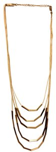 none Chic Neutral Gold Statement Necklace