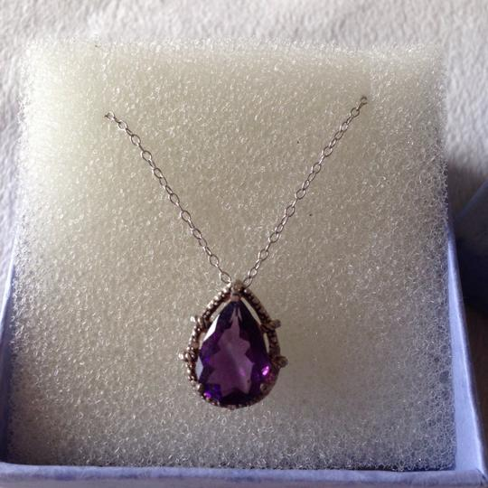 Other amethyst and CZ Silver necklace Image 2