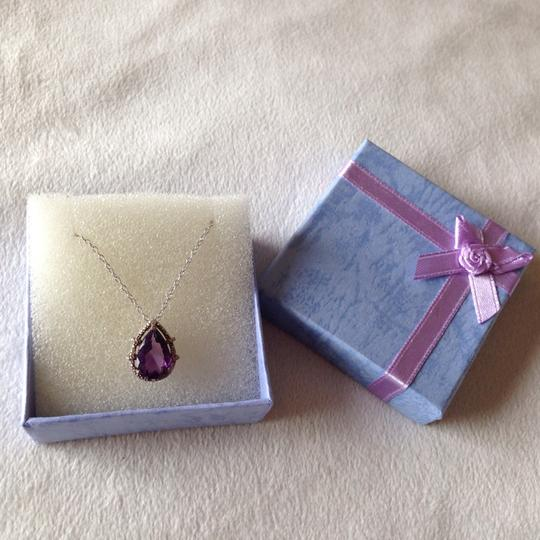 Other amethyst and CZ Silver necklace Image 3