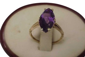 Stunning Estate Deco 1920s Gatsby Era Yellow 10k Gold 5.00carats Genuine Amethyst RING!
