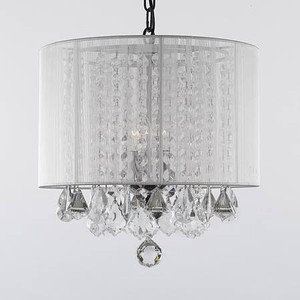 Brand New In A Box White Lamp Style Crystal Chandelier Lighting