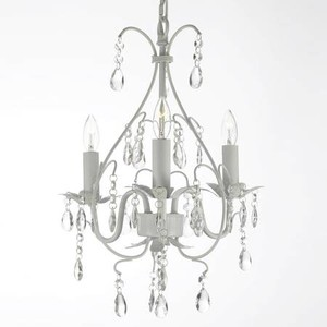 Brand New In A Box Crystal White Vintage Style Chandelier Lighting