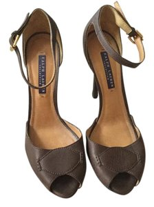 Ralph Lauren Collection Leather Brown Sandals