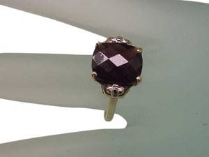Other Stunning Estate Deco 1920s Gatsby Era Yellow+ White 10k Gold 5.00ct Genuine Garnet RING