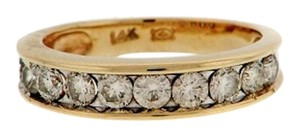 STEAL - 1 CT 14K Yellow gold 11 diamond wedding band /ring - men or women