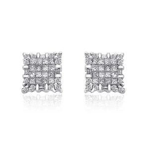 Avital & Co Jewelry 1.00 Carat Diamond Stud Earrings 14k White Gold